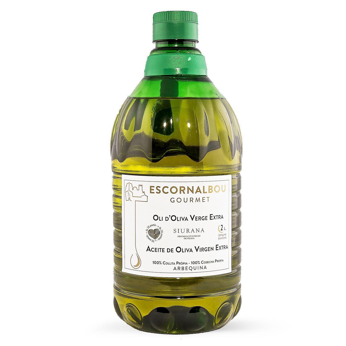 Comprar 2L Aceite De Oliva Virgen Extra 100% Arbequina - Garrafa PET | Escornalbou Gourmet - AOVE de auténtica calidad Gourmet con propiedades cardiosaludables. Producto certificado.