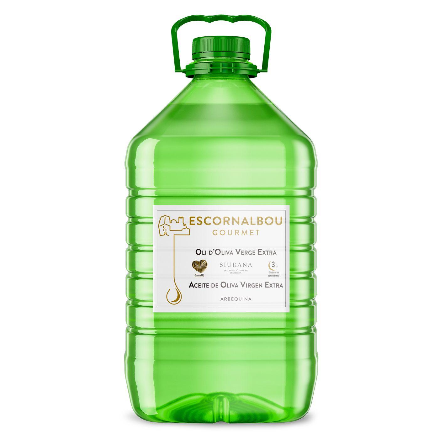 Comprar 3L Aceite De Oliva Virgen Extra 100% Arbequina - Garrafa PET | Escornalbou Gourmet - AOVE de auténtica calidad Gourmet con propiedades cardiosaludables. Producto certificado.