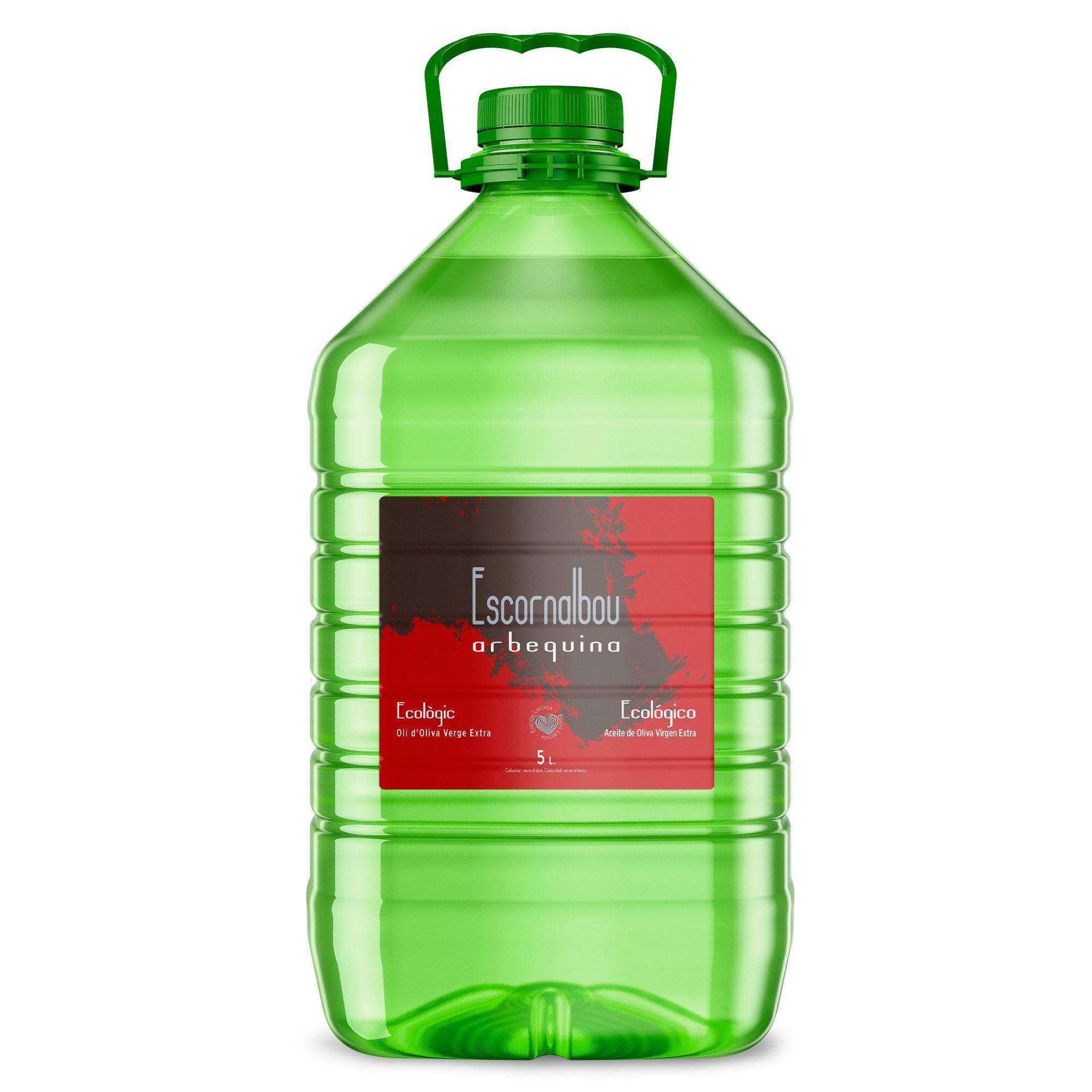 Comprar 5 L Aceite De Oliva Virgen Extra ECOLÓGICO 100% Arbequina - Garrafa PET | Escornalbou Gourmet