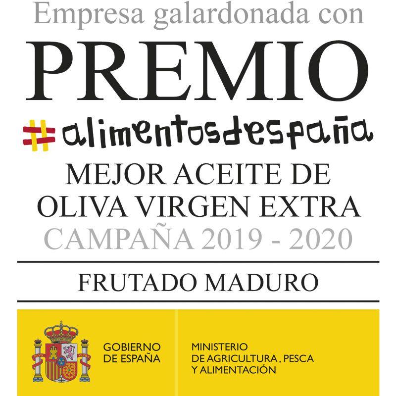 El Aceite de Oliva Virgen Extra Escornalbou Gourmet ha sido galardonado con el Premio Alimentos de España al Mejor AOVE Frutado Maduro de la campaña 2019-2020