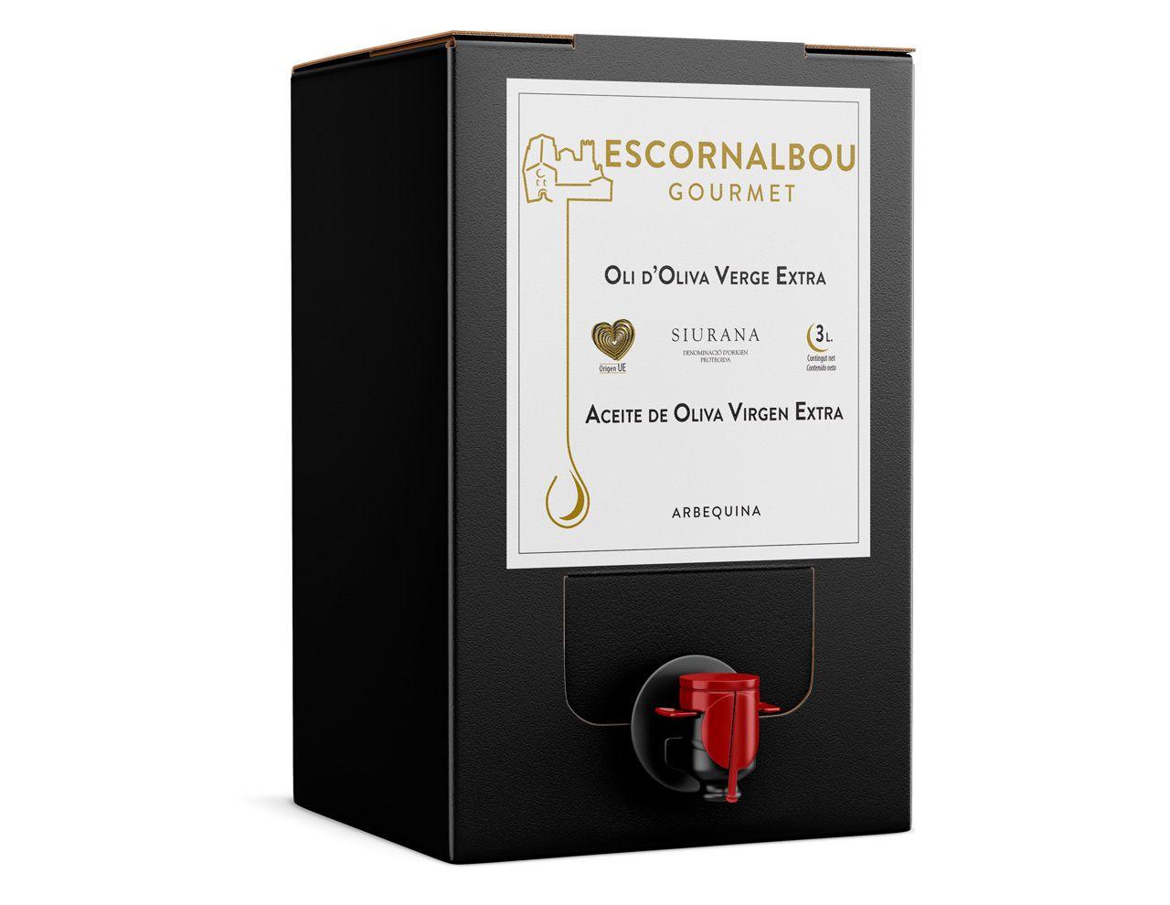 3L Aceite De Oliva Virgen Extra Escornalbou Gourmet – Bag In Box